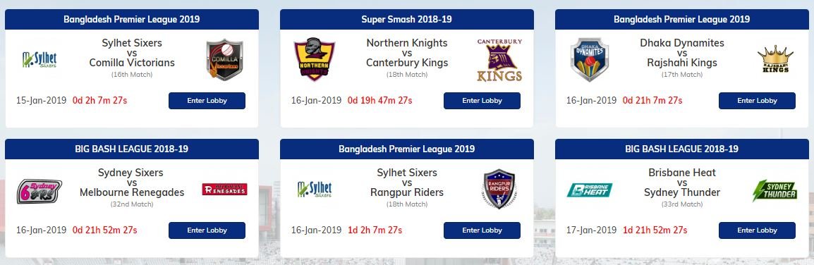 11 Wickets Upcoming Matches