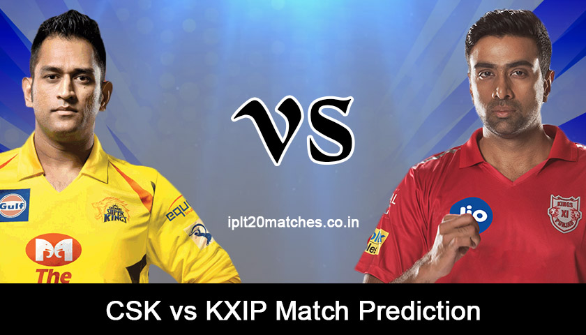 CSK VS KXIP MATCH PREDICTION