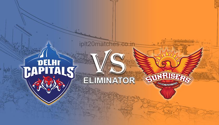DC vs SRH Eliminator Match Prediction