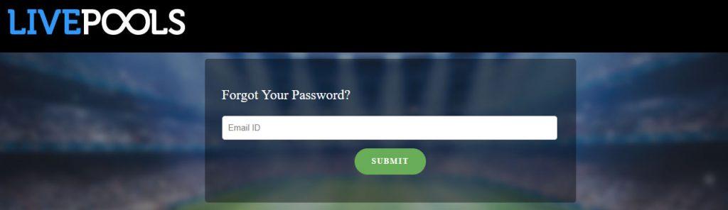 reset password in Livepools